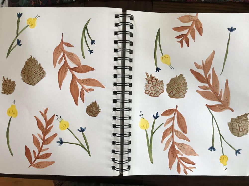 Botanical folk art - image 1 - student project