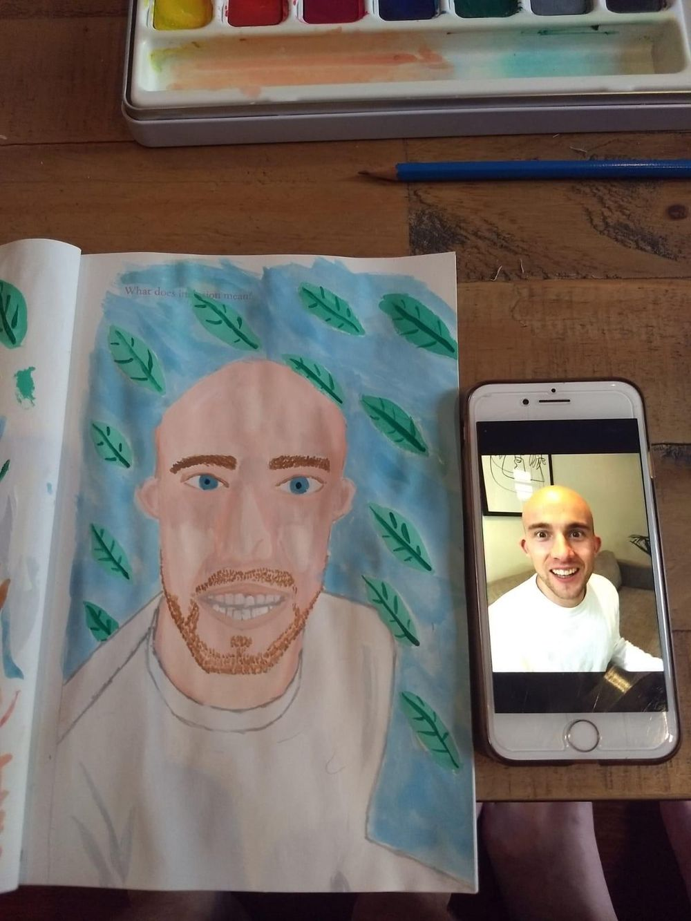 First Gouache portraits - image 3 - student project