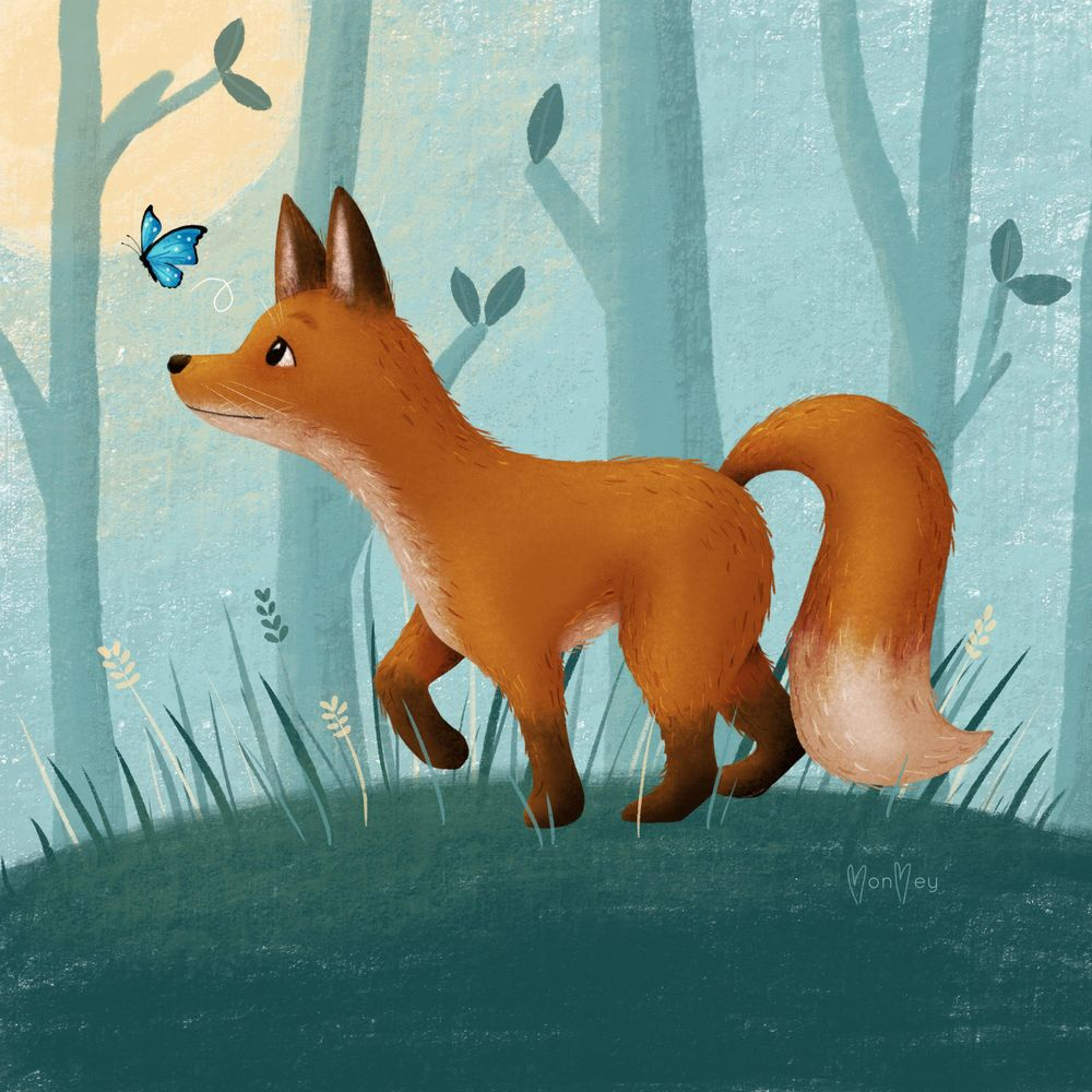 Fox Drawing - image 1 - student project