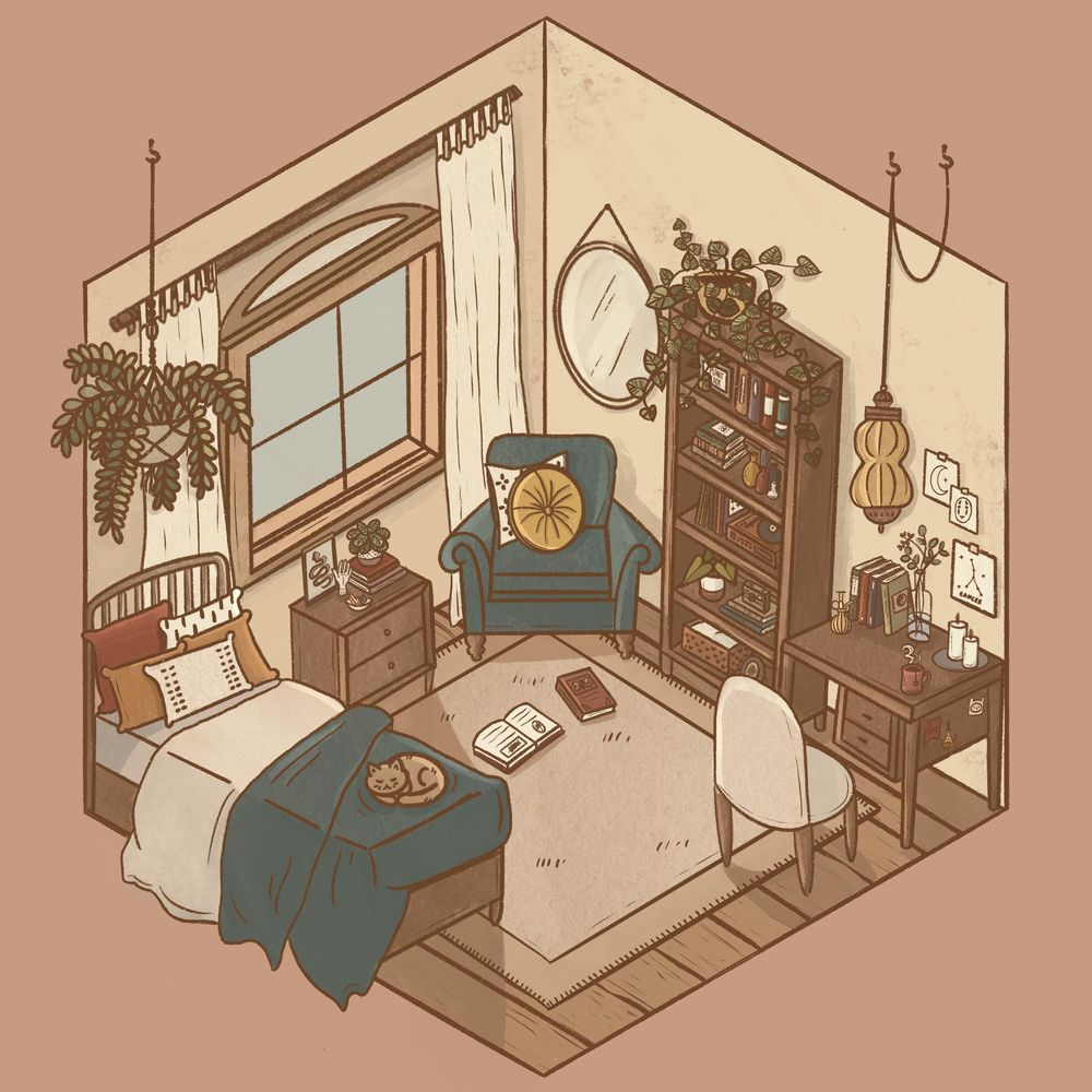 Isometric Room Illustration - image 1 - student project