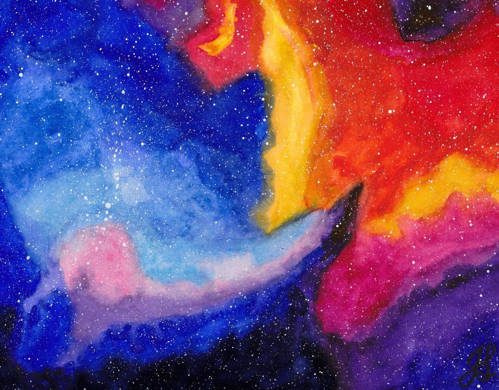 Painted a Galaxy Using Class Techniques - image 1 - student project