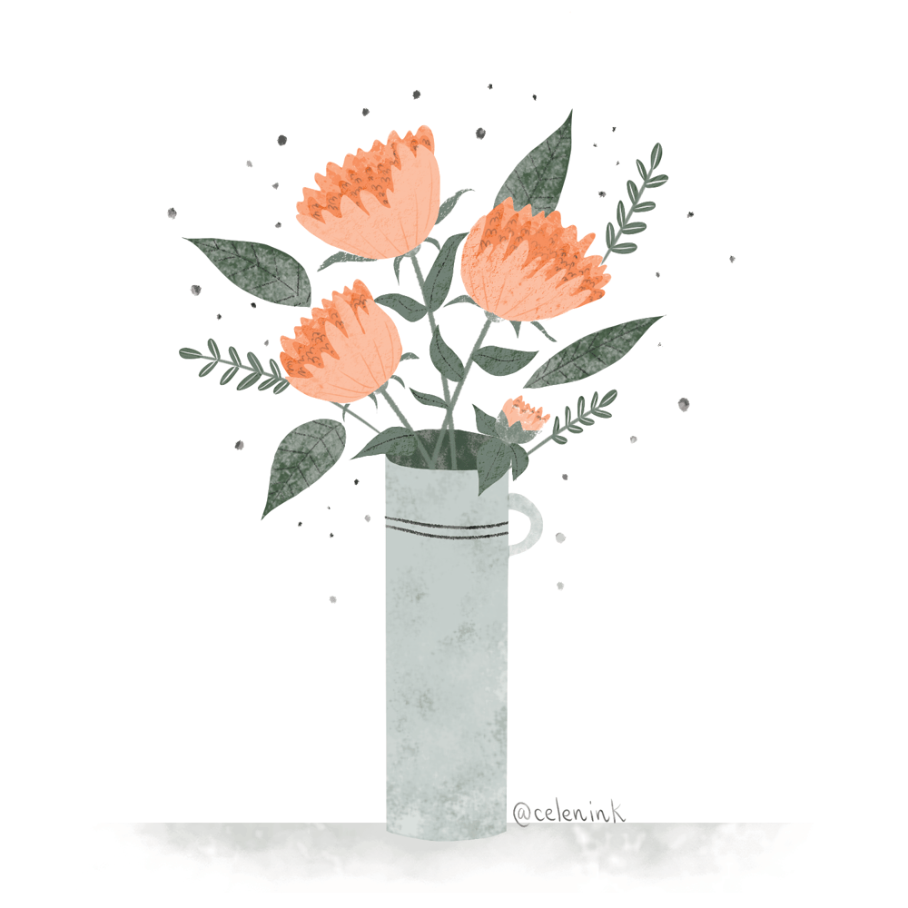 Coral peonies - image 1 - student project