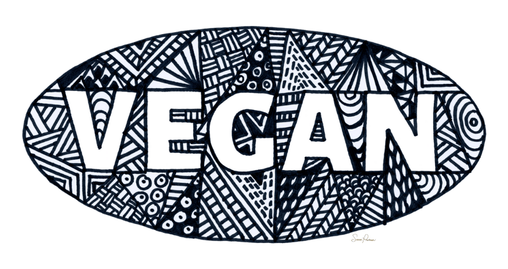 VEGAN with Doodle Background - image 1 - student project