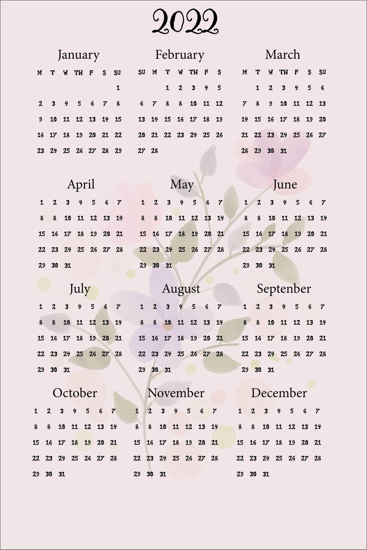 Floral Calendar - image 1 - student project