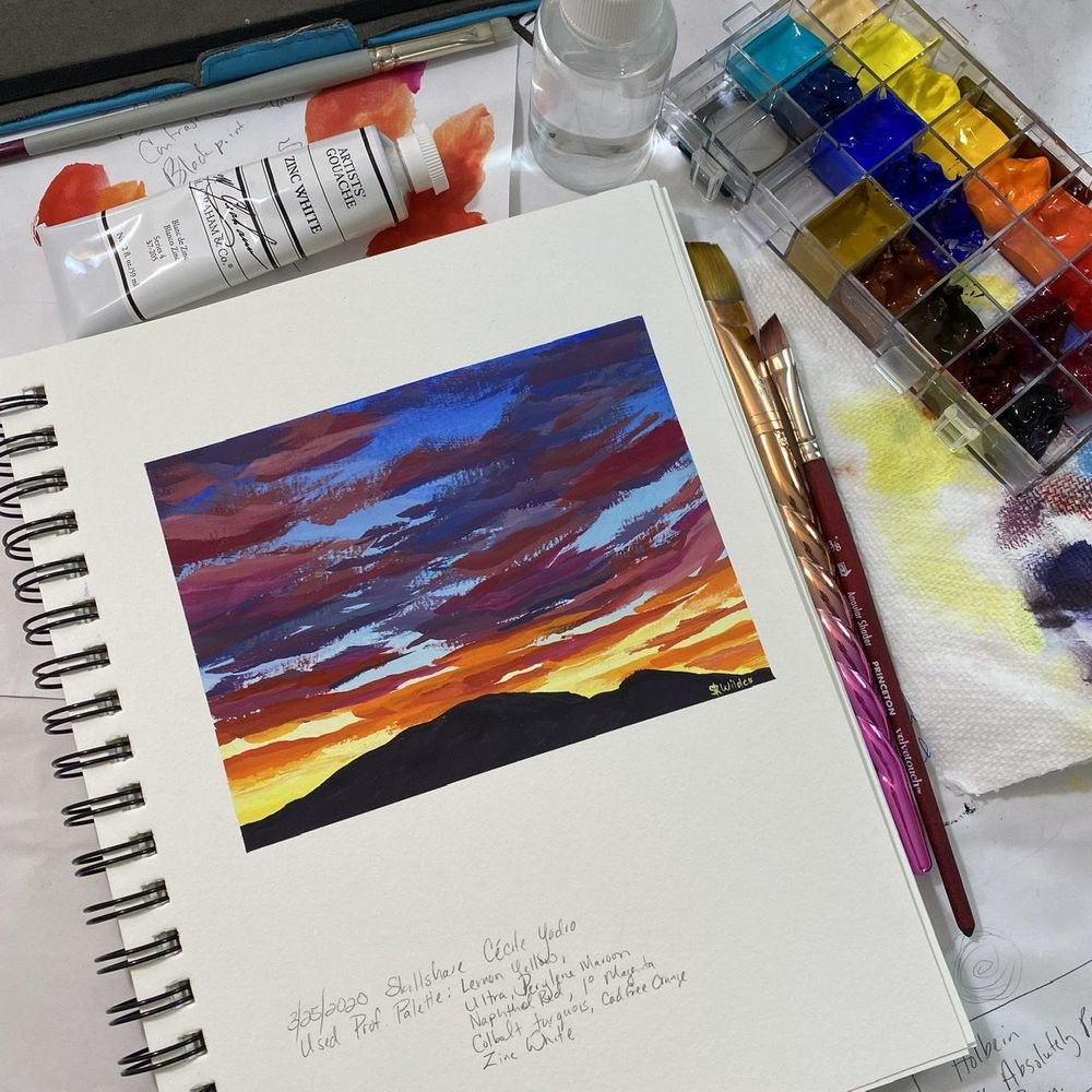 Gouache Clouds - image 2 - student project