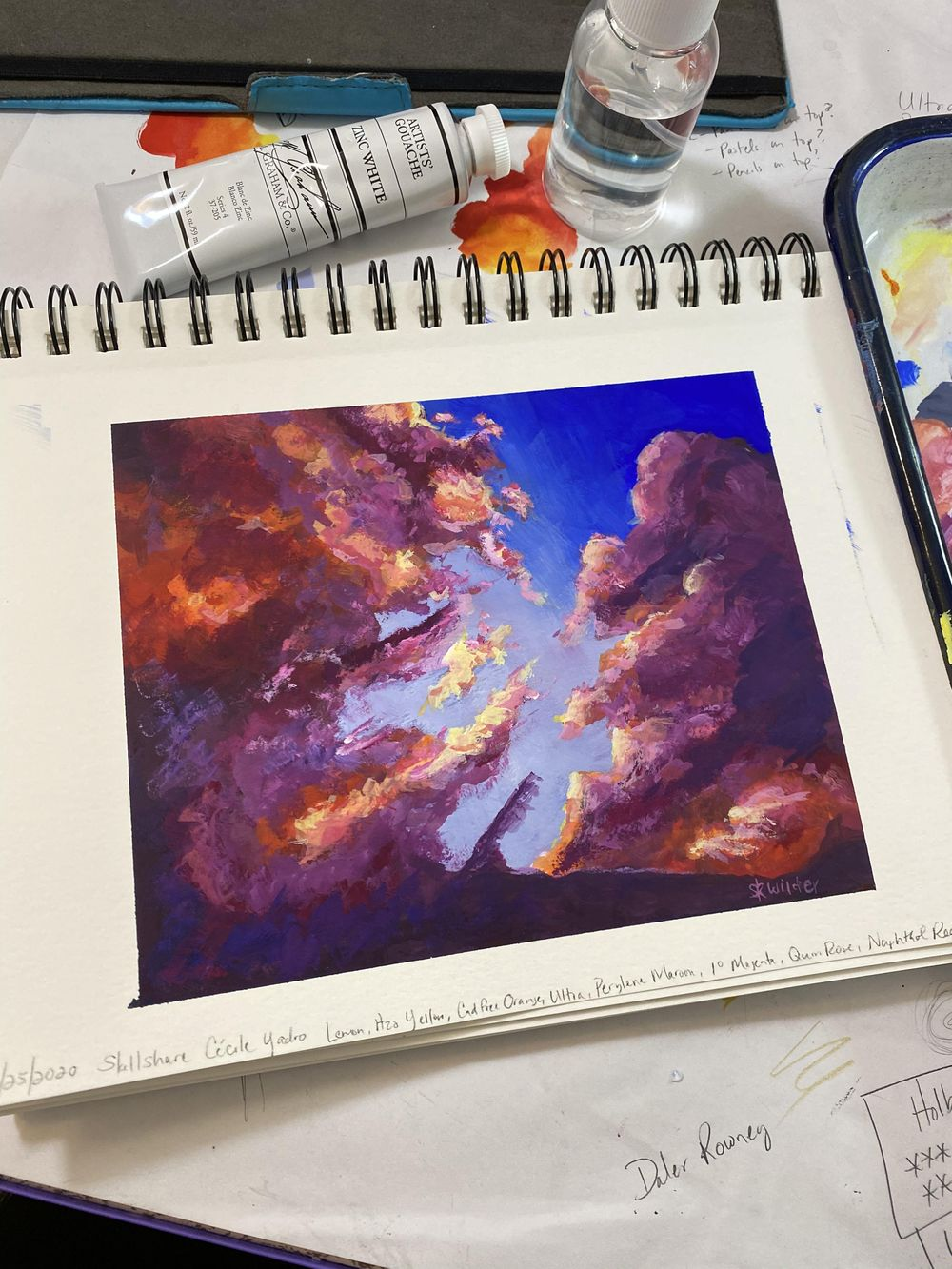 Gouache Clouds - image 1 - student project