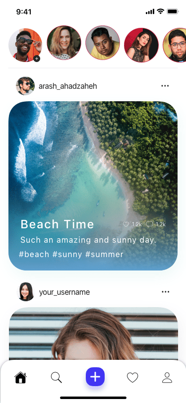 Instagram Redesign - image 6 - student project