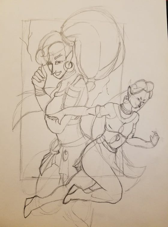 Doing some fanart - image 1 - student project
