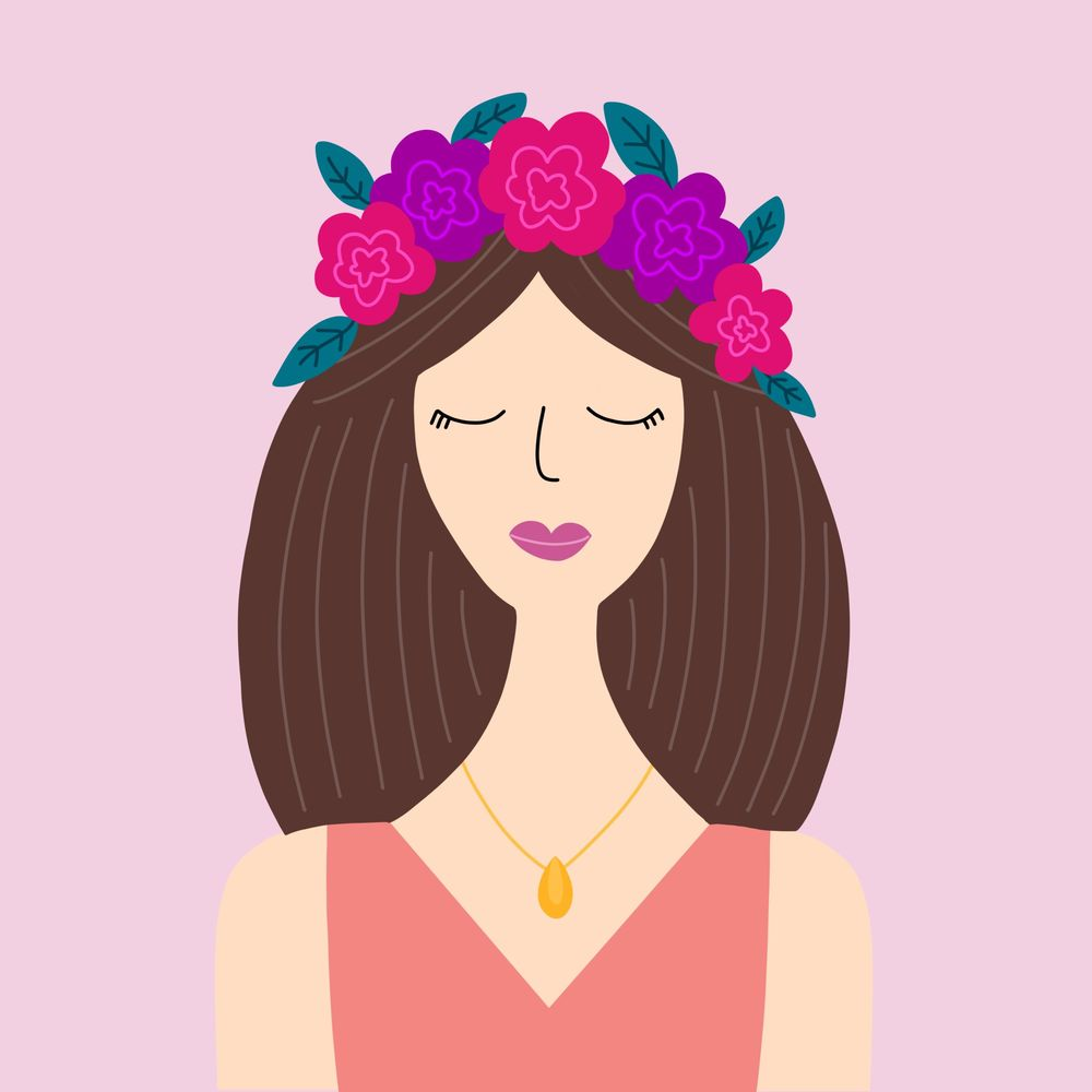 Flower Crown Girl - image 1 - student project