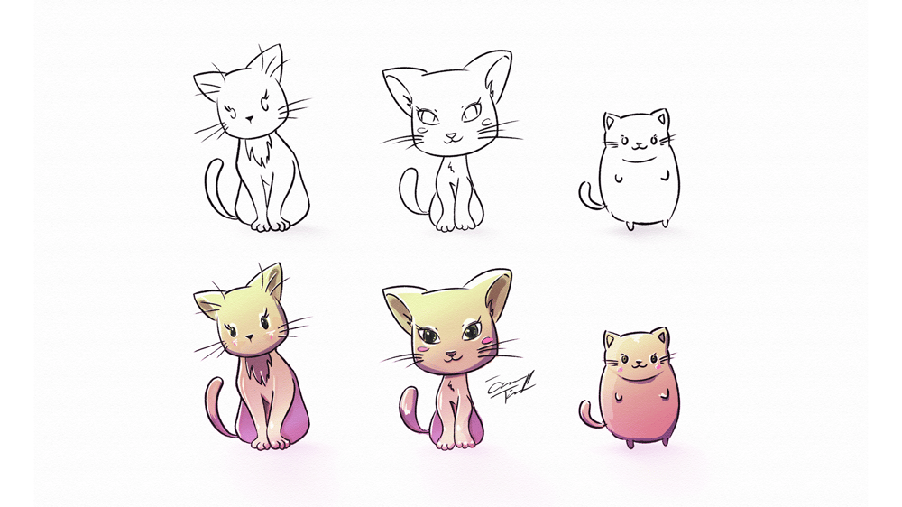 Cute Cats X3 - image 4 - student project