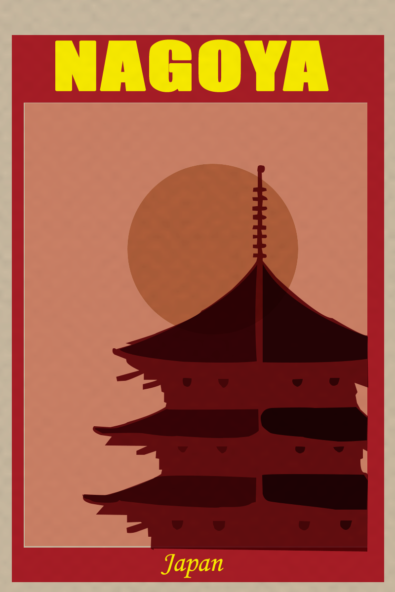 20181230 Retro Poster Project. Nagoya, Japan - image 1 - student project