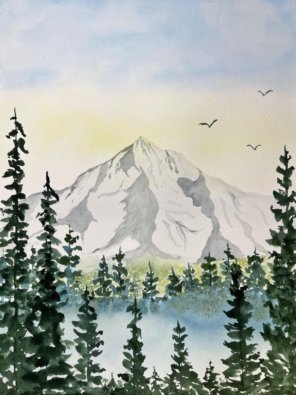 Watercolor Mountaintop - image 1 - student project