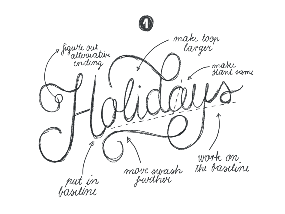 Hand Lettering for the Holidays - lesson No.2 - image 4 - student project