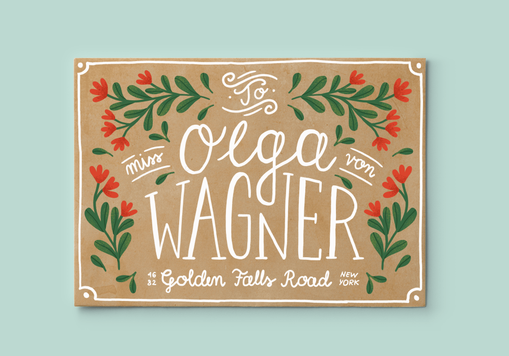 Hand Lettering for the Holidays - lesson No.1 - image 7 - student project