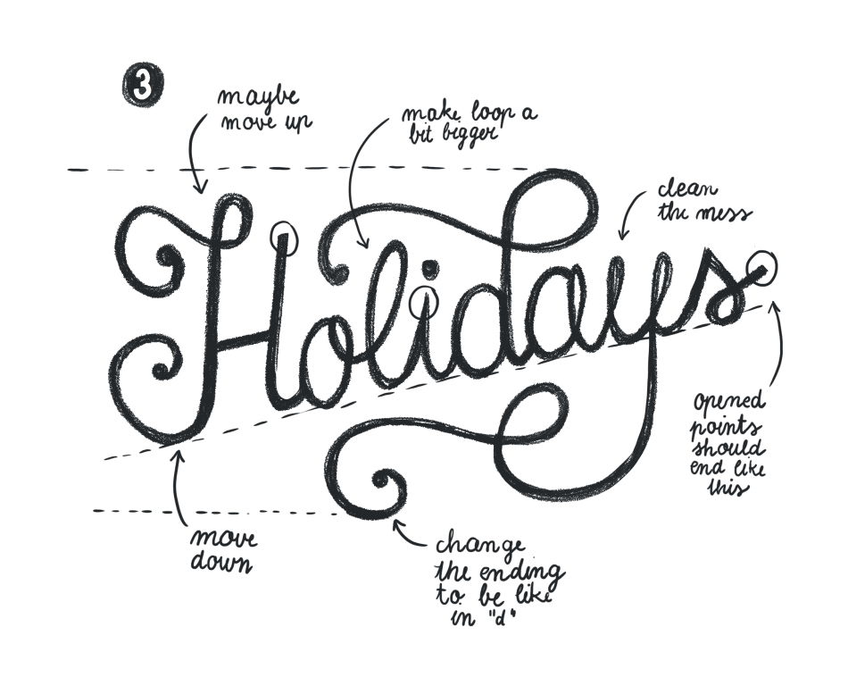 Hand Lettering for the Holidays - lesson No.2 - image 6 - student project