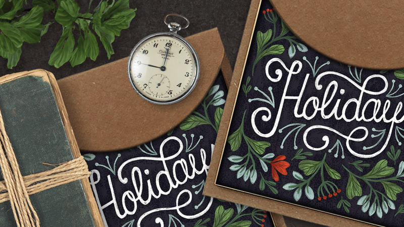 Hand Lettering for the Holidays - lesson No.2 - image 9 - student project