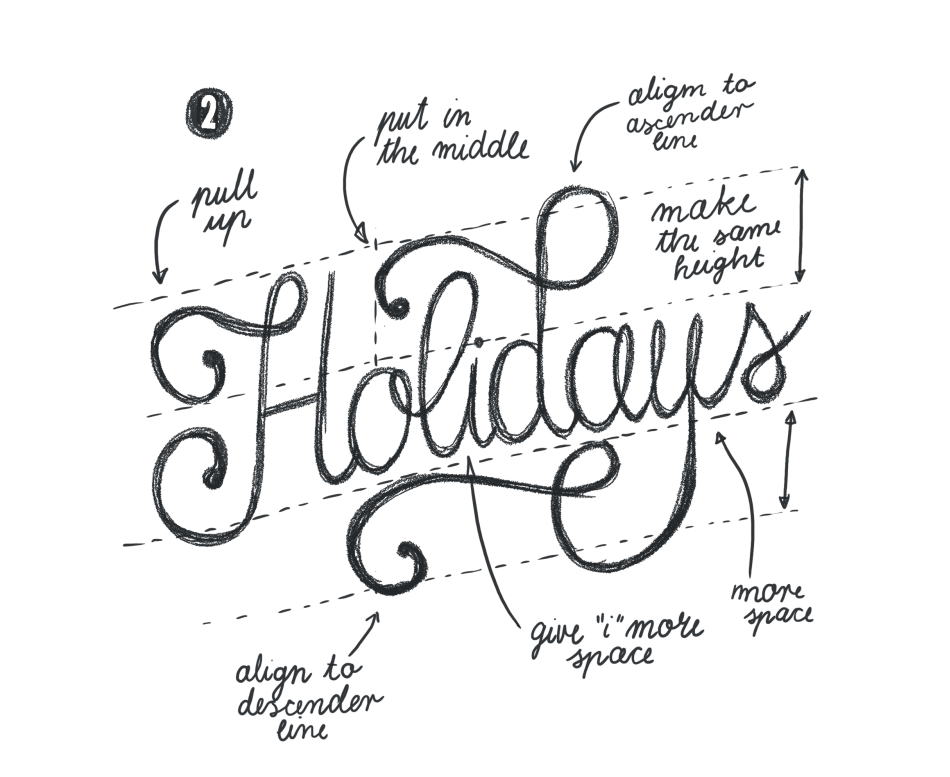 Hand Lettering for the Holidays - lesson No.2 - image 5 - student project