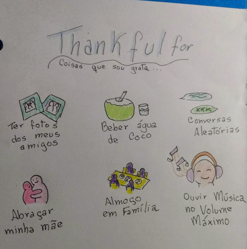 Thankful for (portuguese) - image 1 - student project