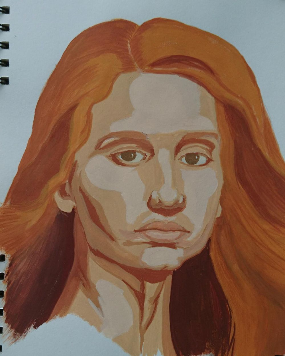 Gouache portrait for beginners - image 1 - student project
