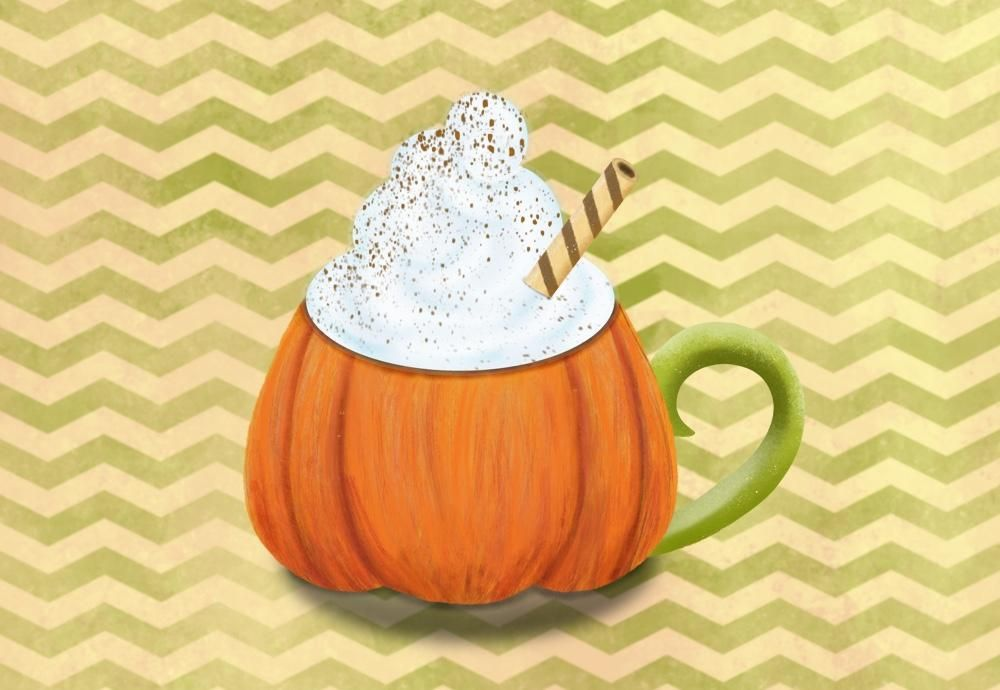 Fall pumpkin chevron - image 1 - student project