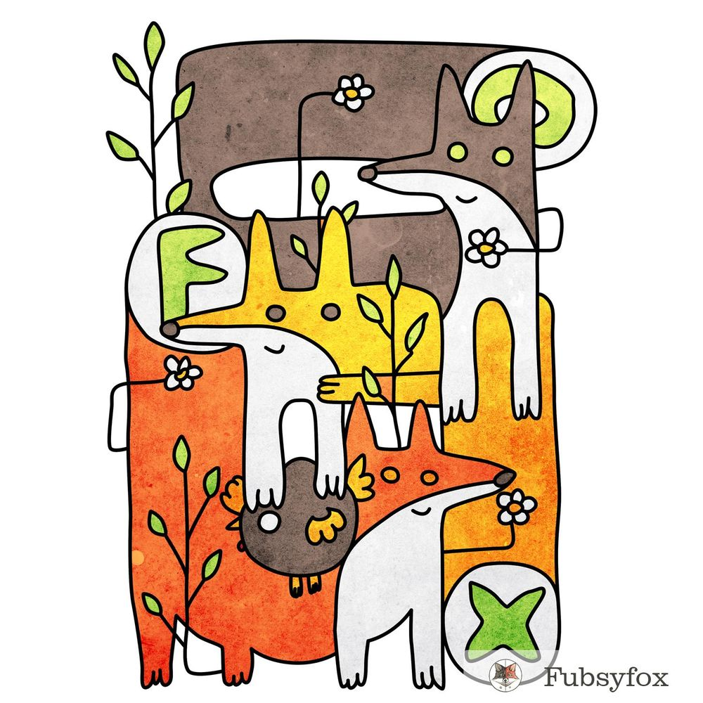 Fox doodles - image 1 - student project