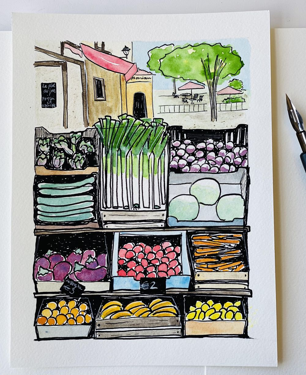 Farmer's market in France - image 1 - student project