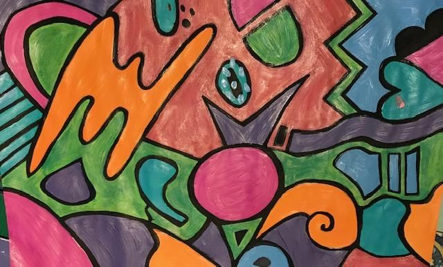 My first attempt at abstract painting - just for fun! - image 1 - student project
