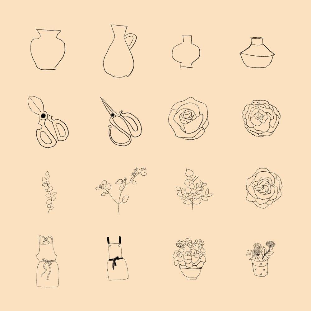 spot illustration-flower arrangements - image 1 - student project