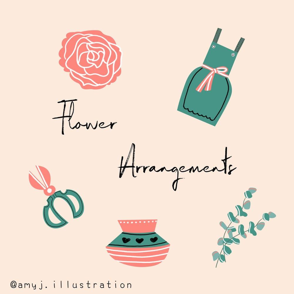 spot illustration-flower arrangements - image 2 - student project