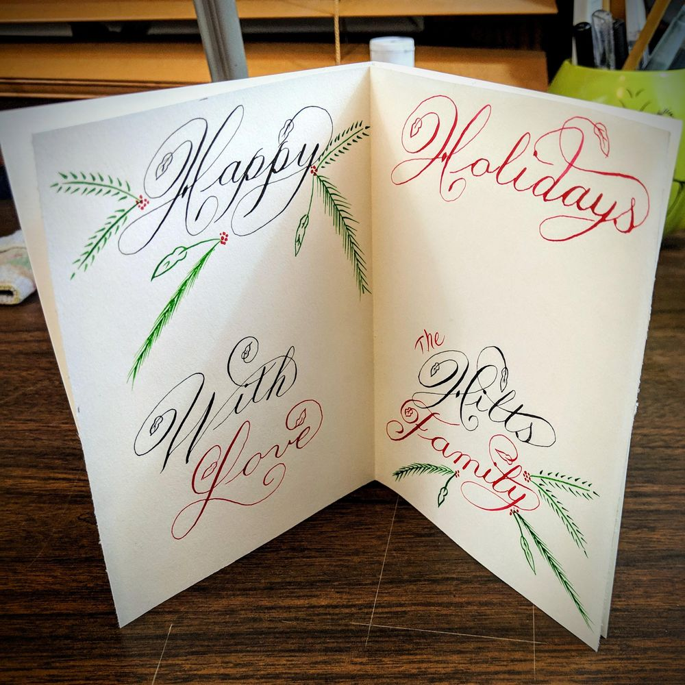 Copperplate Style Calligraphy - image 1 - student project