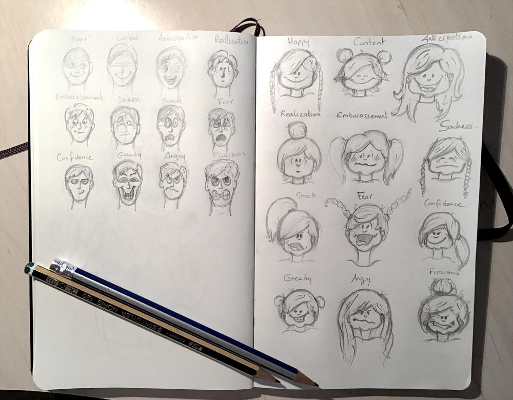 Cartooning a 3 year old - image 1 - student project