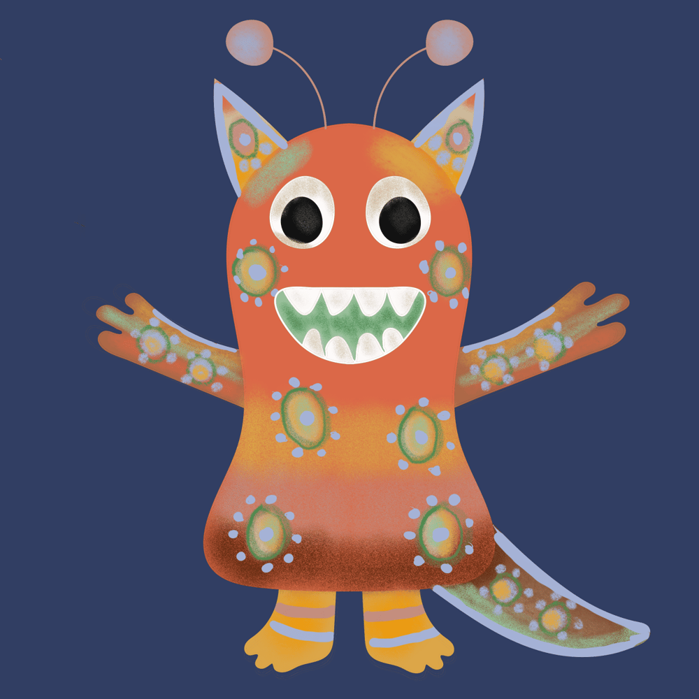 Procreate Monsters - image 1 - student project
