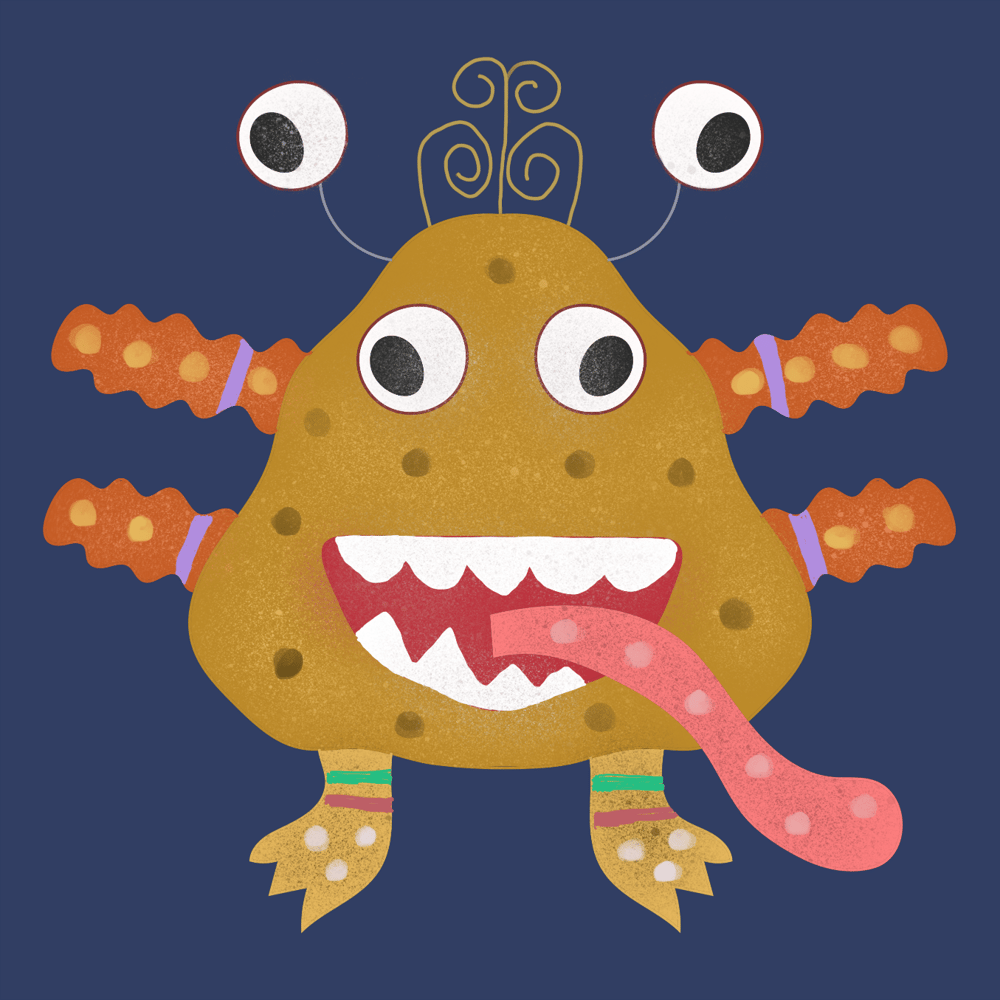 Procreate Monsters - image 2 - student project