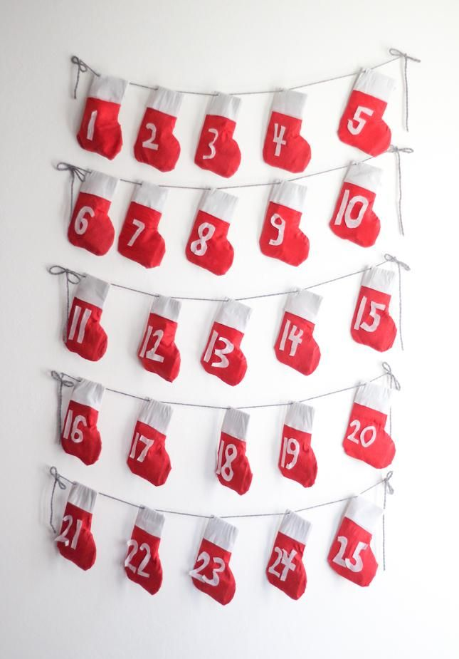 DIY Stocking Garland + Advent Calendar - image 1 - student project