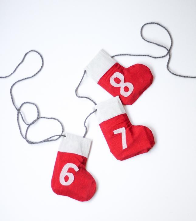 DIY Stocking Garland + Advent Calendar - image 9 - student project