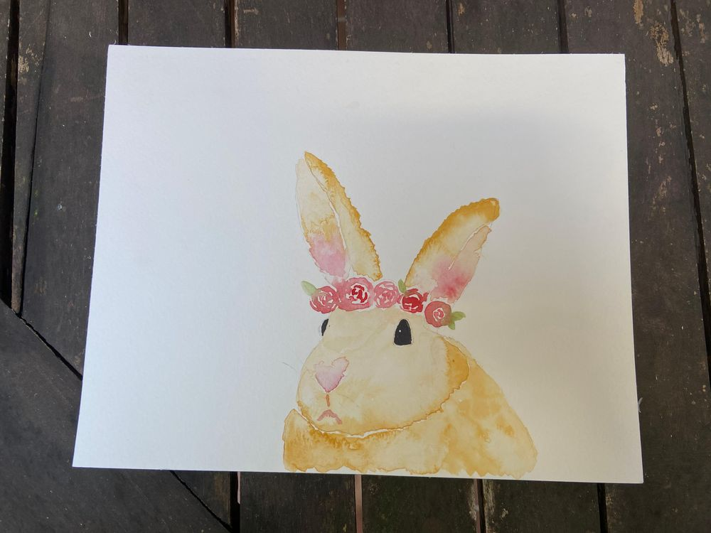 watercolor bunny - image 1 - student project