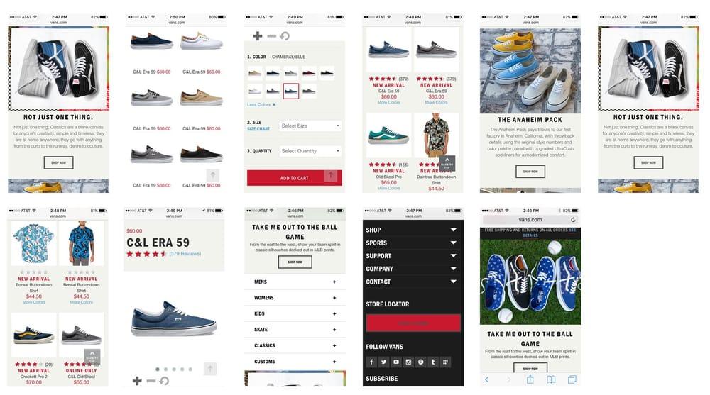 Mobile shopping app UI design - Vans - image 1 - student project