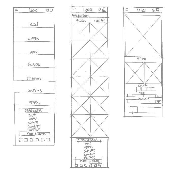 Mobile shopping app UI design - Vans - image 5 - student project