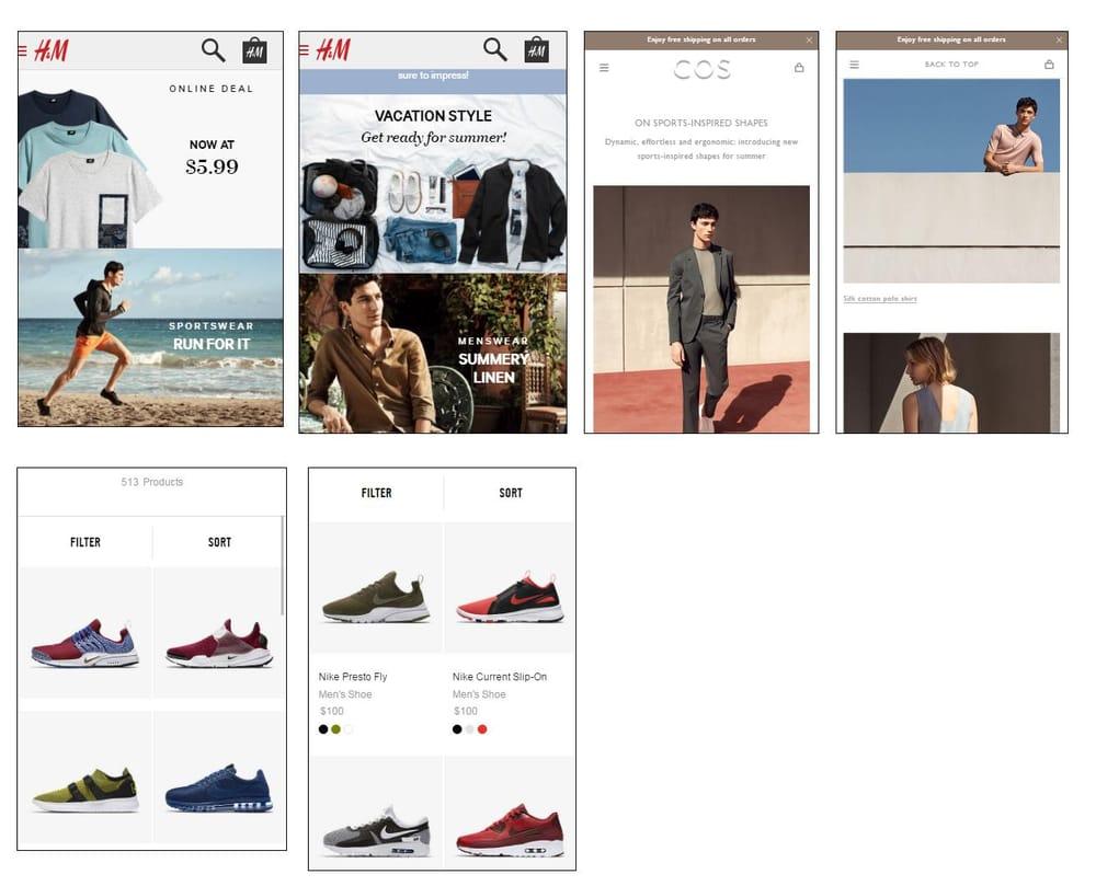 Mobile shopping app UI design - Vans - image 3 - student project
