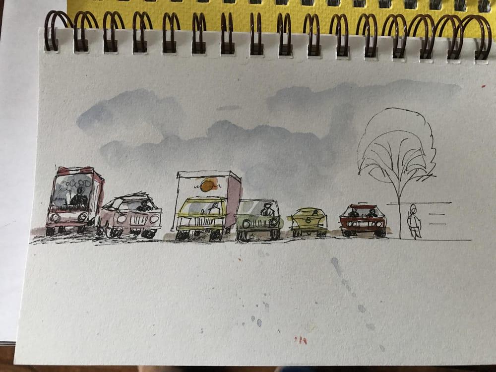 Jim Richards Urban Sketching Workshop - image 2 - student project