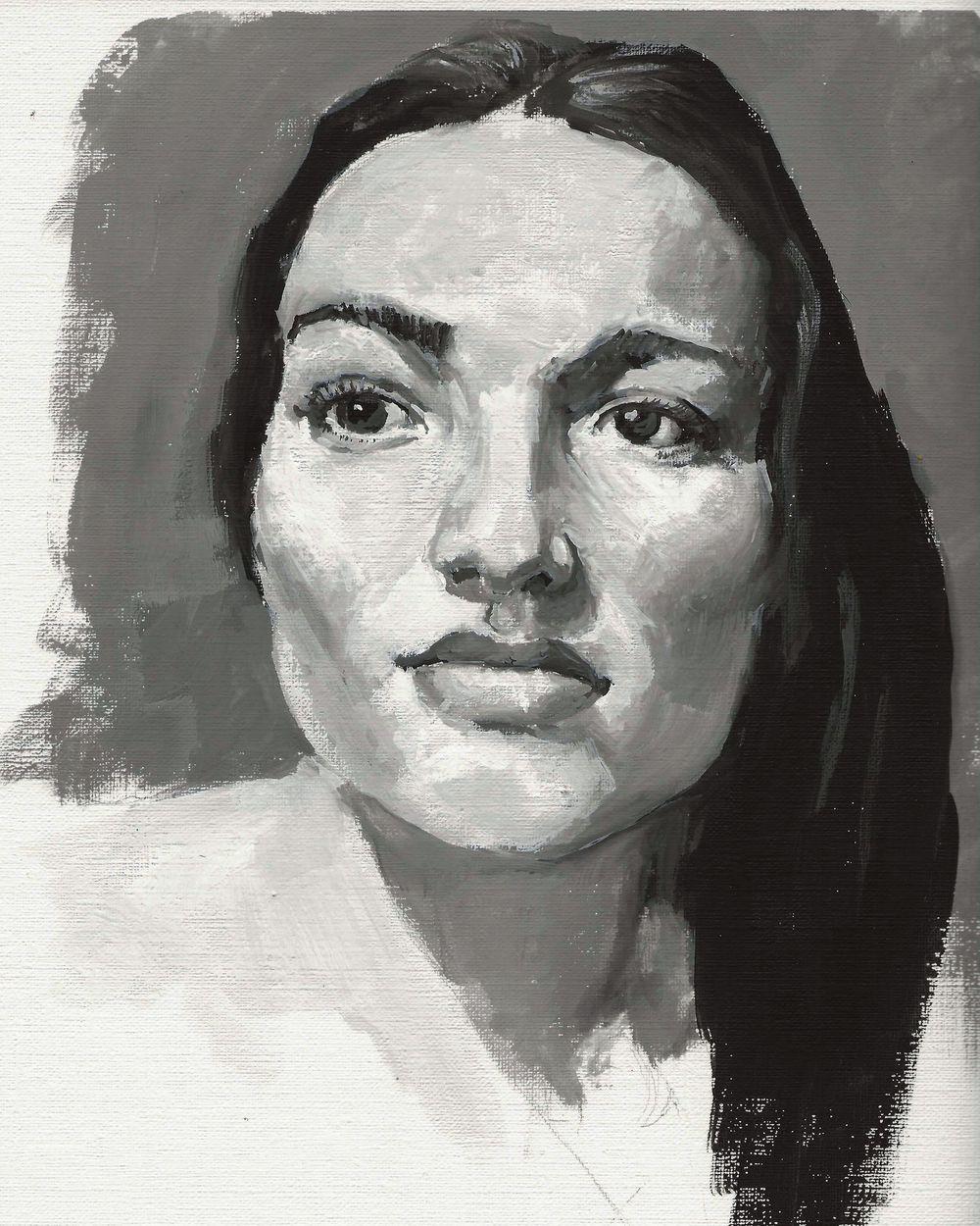 gouache portrait - image 4 - student project