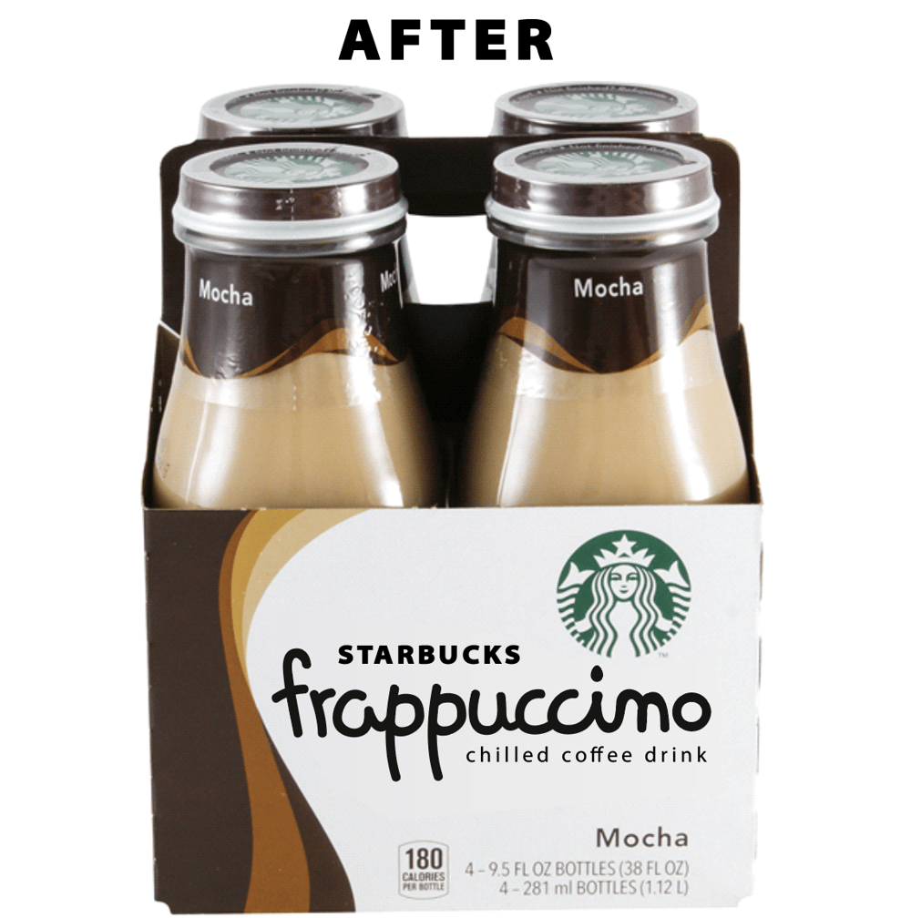 Starbucks Frappuccino Logo Before/After - image 1 - student project
