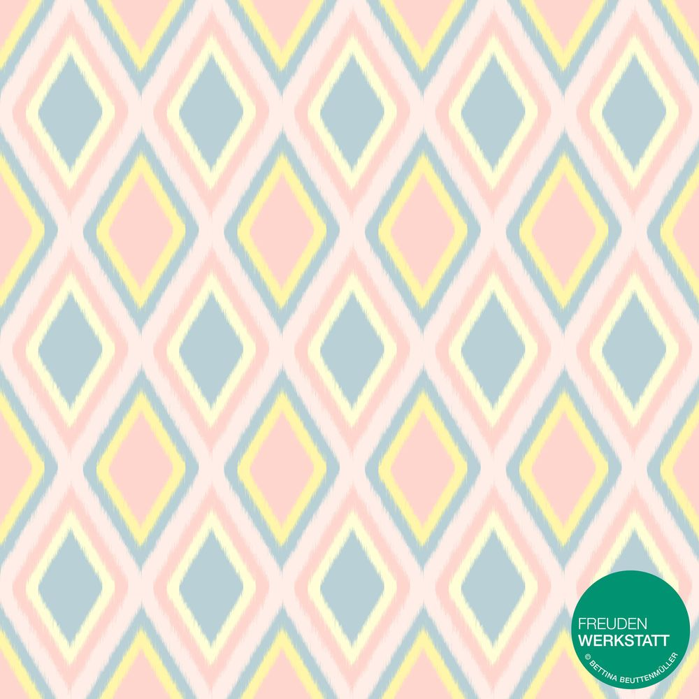 Pastell Ikat Patterns - image 4 - student project