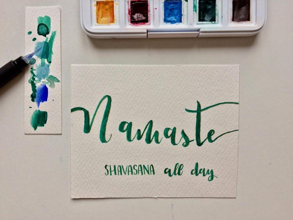 """Namaste"" card - image 2 - student project"