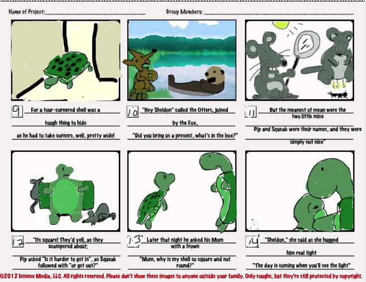 """Cornered! The story of a turtle with a """"Square Shell.""""  - image 2 - student project"""