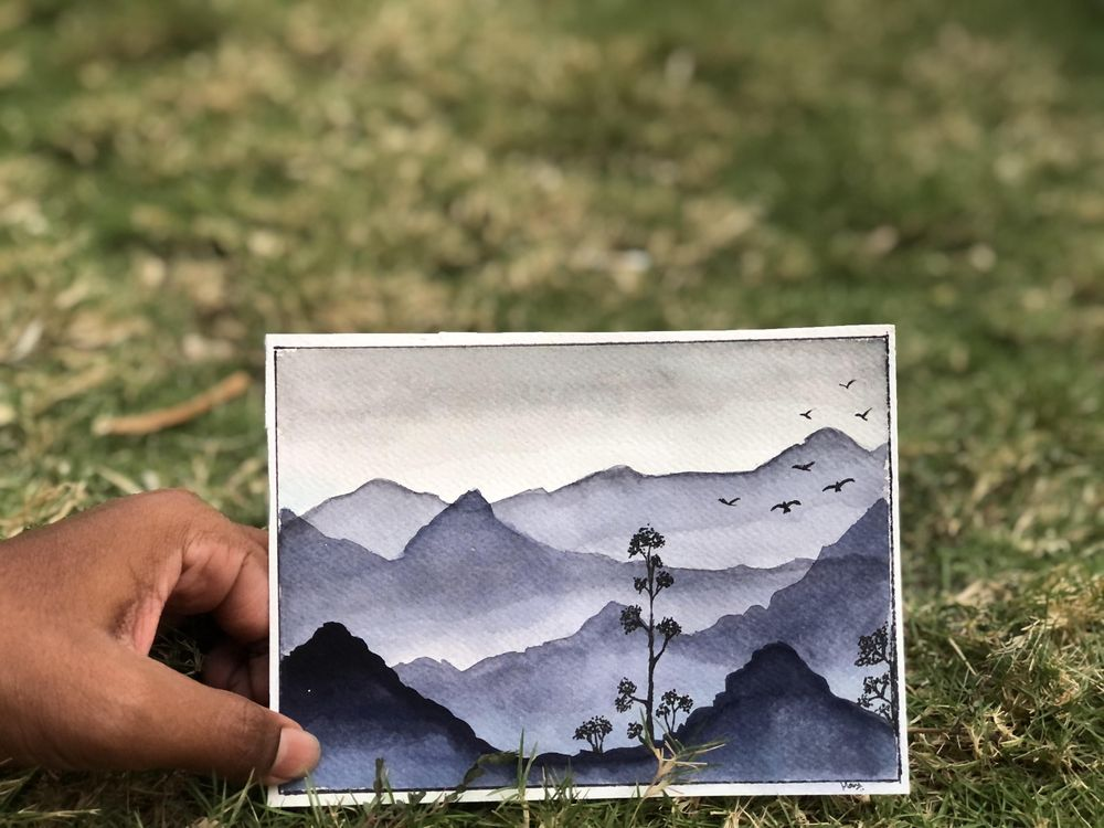 Monochrome watercolour - image 2 - student project
