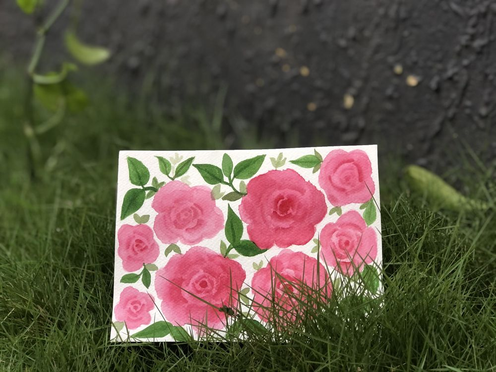 Watercolour roses - image 1 - student project
