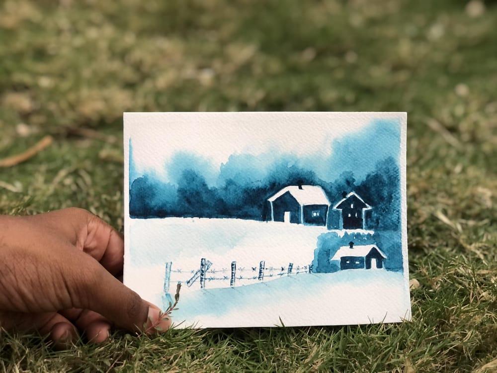 Monochrome watercolour - image 1 - student project