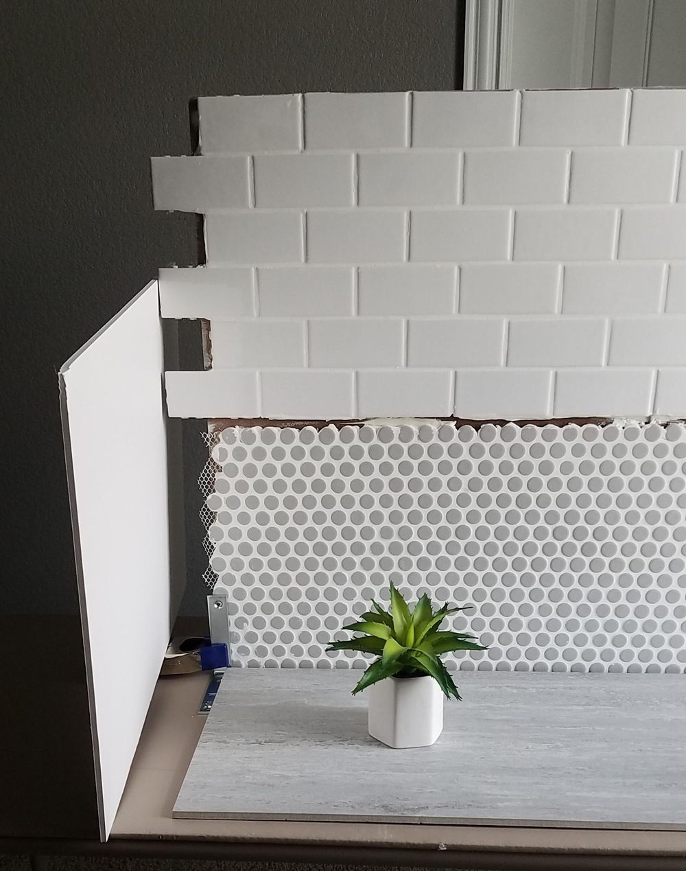 DIY Penny Tile Backdrop - image 2 - student project
