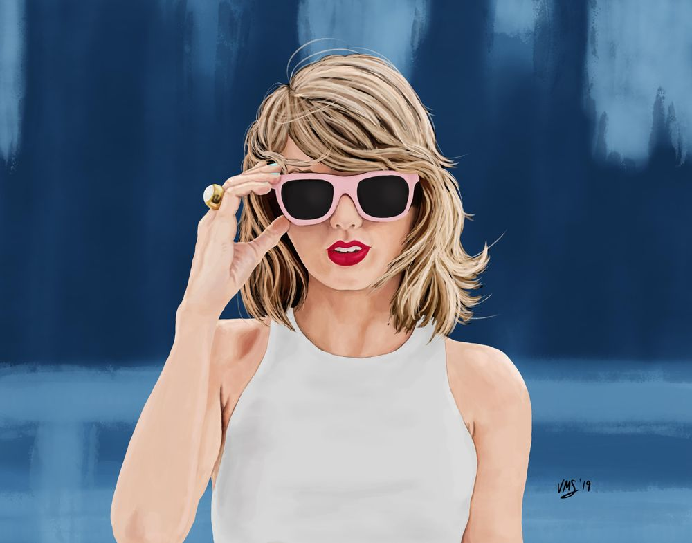 Taylor Swift Digital Painting - image 1 - student project